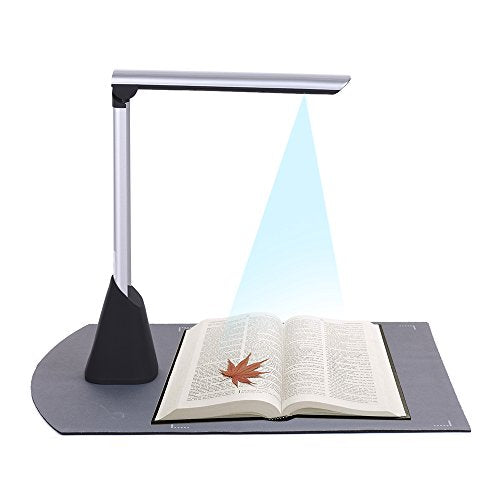 Aibecy Portable High Speed USB Book Image Document Camera Scanner 10 Mega-pixel HD High-Definition Max. A4 Scanning Size with OCR Function LED Light for Classroom Office Library Bank
