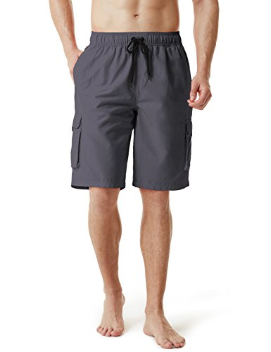 27693ec2b8a1d TM-MSB01-DGY_Medium Tesla Men's Swim Trunks Quick dry Water Beach MSB01