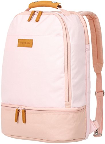 Everyday Laptop Backpack AMBER & ASH Business Anti Theft Slim Durable Backpack,Water Resistant College School Computer Bag for Women Fits 15.6 Inch Laptop Notebook [Pink]