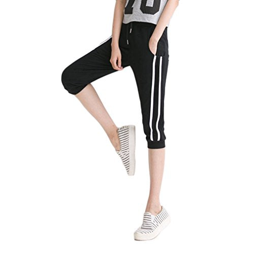KDi Women's Shorts Jogger Sweatpants Running Trousers Tracksuit Capri Pants