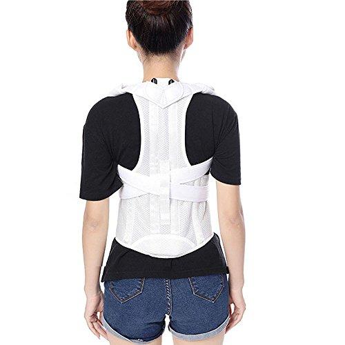 Humpback Correction Back Brace Spine Back Orthosis Scoliosis Lumbar Support  Spinal Curved Orthosis Fixation for Posture (S, White)