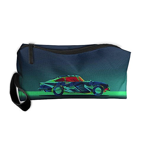 Portable Outdoor Cosmetic Toiletry Clutch Bag Accessories Organizer Case Travel Home Use Zipper Oxford Colorful Polygon Car Storage Pouch Pencil Case