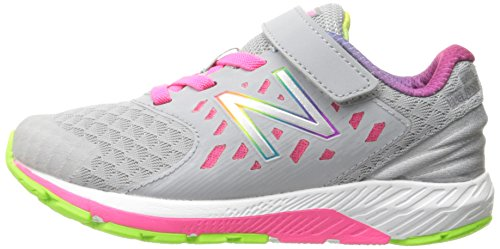 296a54072882f New Balance Girls' Urge V2 Hook and Loop Road Running Shoe, Grey/Pink