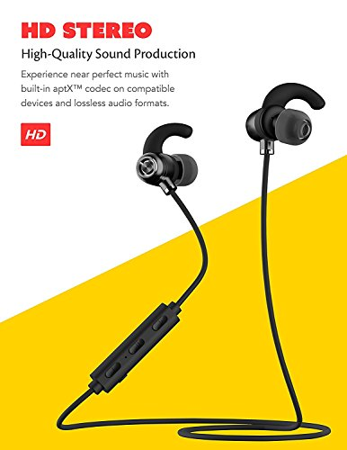 LG Optimus L4 II Tri E470 Bluetooth Headset In-Ear Running Earbuds IPX4  Waterproof with Mic Stereo Earphones, CVC 6 0 Noise Cancellation, works  with,