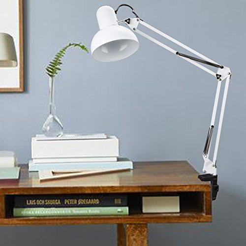 Swing Arm Desk Lamp, Adjustable Arm Drafting Lamps, Eye Care Clamp Table  Desk Lamp