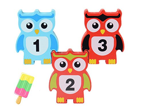 ks 12 pcs wooden children stacking toy owl shapes stacking blocks toys balance game toy set