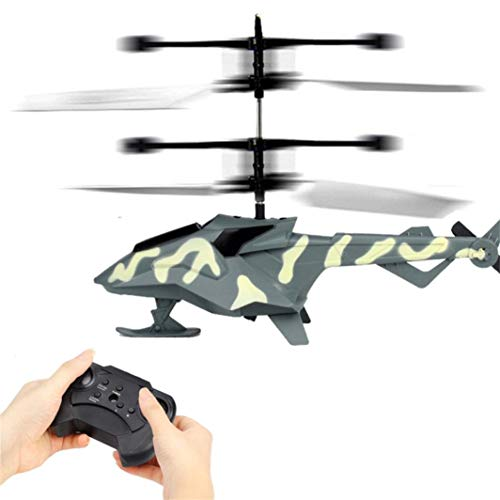 RC Helicopter, Cool Mini Infrared Remote Control Model Plane Toy 2 Channels Built-in Gyro Drone, Durable Crash Resistance for Kids Indoor Outdoor Activity Birthday Christmas Party Gift (Camouflage)