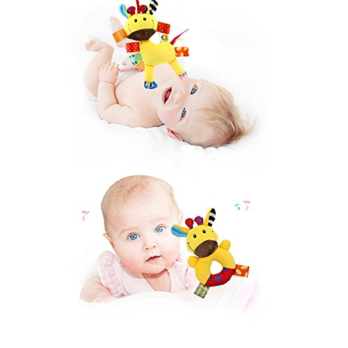 Godr Baby Hanging Toy, Infant Plush Adorable Animal Wind Chime&Bed ...