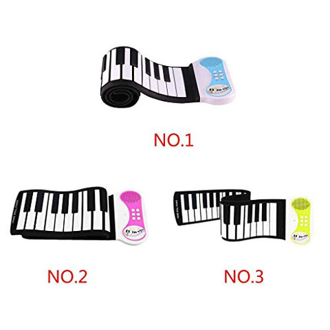 Four 49 Keys Silicon Flexible Hand Roll Up Piano Portable Electronic Keyboard Organ Musical Instrument Gift for Children