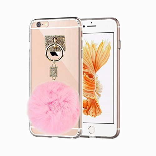 promo code 0f40c bbd07 BXT iPhone 6 Plus/6s Plus Slim Thin Crystal Clear Transparent Protective  Case Cover, Women Girls Rhinestone Soft TPU Gel Back Carrying Case Bumper  ...