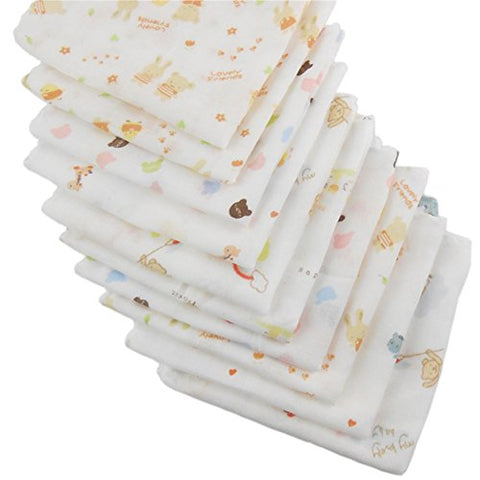 Gracefulvara Baby Burp Cloths Handkerchief Nursing Towel Random 10PCS