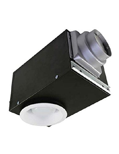 AirZone Fans SE80RVLH Recessed Exhaust Ventilation Fan with 16W Fluorescent Light and Very Quiet Motor, Humidity Sensor, 0.9 Sones, 80 CFM