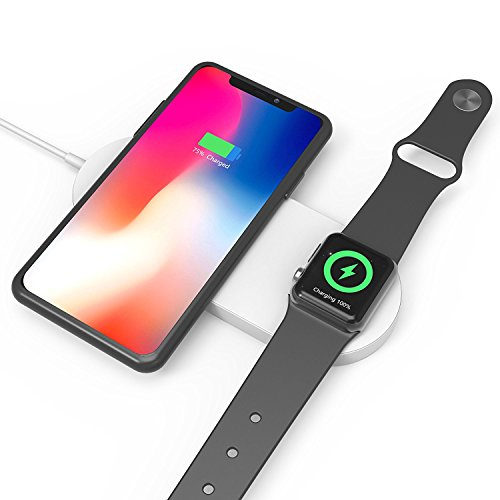 new concept 354db 9759f Wireless Fast Charger for Apple Watch iphone 2 in 1 Wireless Charging Pad  QI Quick Charging Stand for iWatch Series2,3,Samsung Galaxy ...