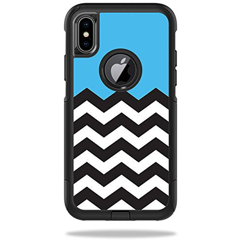 finest selection d6b1c 38165 MightySkins Skin For OtterBox Commuter iPhone X - Baby Blue Chevron ...