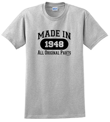 70th Birthday Gifts For Mom Gift Made 1948 All Original Parts T Shirt
