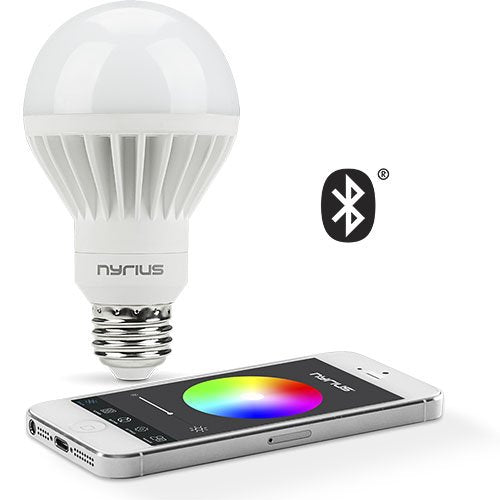 Nyrius Wireless Smart LED Multicolor Light Bulb for Smartphones & Tablets, iOS and Android App Remotely Controls On/Off, Schedule and Dimming Function, Bluetooth Energy Efficient Home Automation(SB10)