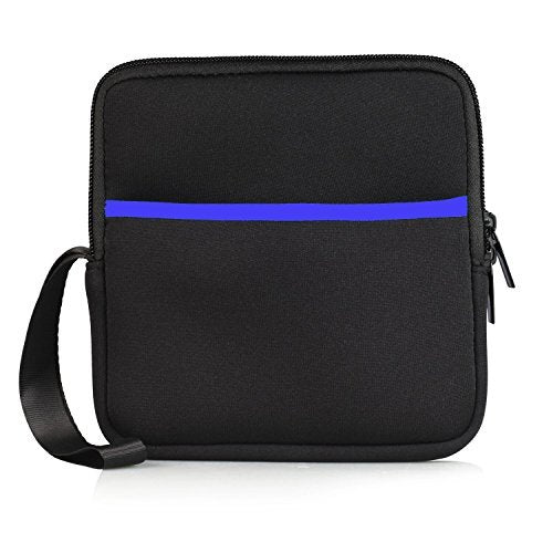 YAHEY External USB CD DVD Drive Protective Sleeve Shockproof Neoprene Carrying Sleeve Case Storage Pouch Bag with Extra Pocket Design for External Blu-Ray Drive Disc Player Hard Drive (Black)