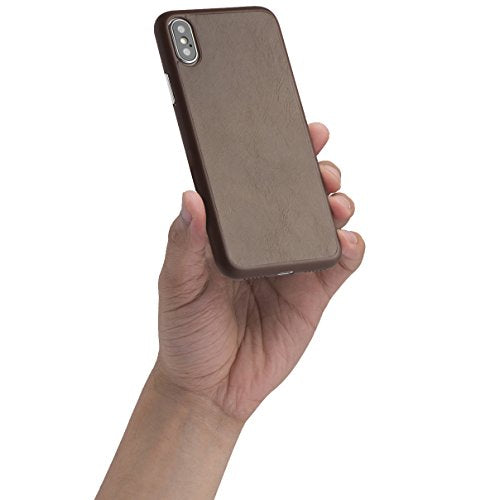 pretty nice 018a2 59f75 totallee iPhone X Leather Case, Thinnest Genuine Cover for Apple iPhone X -  Ultra Thin, Slim & Real Premium Genuine Leather Back (Mocha Brown)