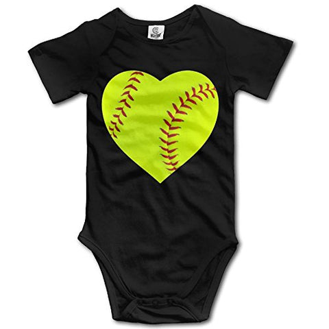 Benntoyo Baby Rompers I Love Softball Heart2 Unisex Baby Favourite Clothing 3M