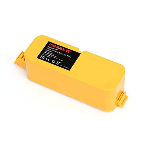 POWERAXIS High Capacity 4.5Ah 14.4V Ni-MH Battery for iRobot Roomba 400 series Roomba 405 410 415 416 418 4000 4100 4105 4110 4130 4150 4170 4188 4210 4220 4225 4230 4232 4260 4296 APS Vacuum Cleaner