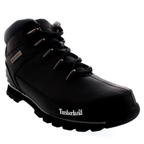Timberland Mens EURO Sprint Hiker Shoes Walking Hiking Ankle Boots - Black - 8.5