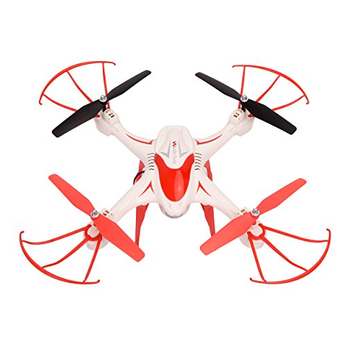 WonderTech Quantum Drone | HD Camera | First Person View Headset Included | Quadcopter with LED Lights | One Button Take Off and Landing | White