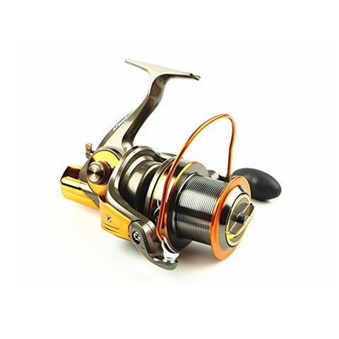 Big metal Spool Spinning Fishing Reels With 13+1BB 4.6:1 For Saltwater Freshwater Ultra Smooth Powerful Fishing Use Size AT 8000