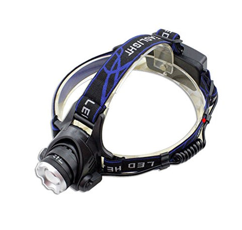 5000Lm CREE Q5 LED Zoomable Adjust Focus Headlight Headlamp Waterproof Light torch (include 2 x 5000mAh 18650 battery + Charger + Car Charger)