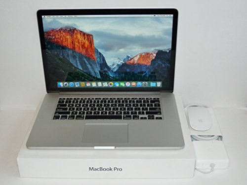 Apple MacBook Pro 15-Inch Retina Laptop Quad i7 2.3GHz - 3.5GHz / 16GB DDR3 Ram / 1000GB PCIe Flash SSD / Gefoce GT 750M 2GB Graphics / OS X High Sierra / USB 3.0 / HDMI