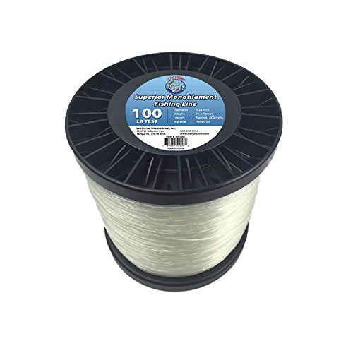 Lee Fisher Joy Fish Spool Monofilament Fishing Line, 100 lb, Clear
