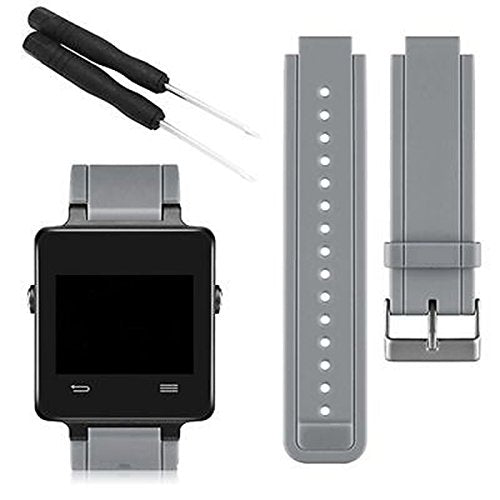 Linkshare Garmin Vivoactive Smart Watch Band, Soft Silicone Replacement Fitness Bands Wristbands With Two Screwdriver (Gray)