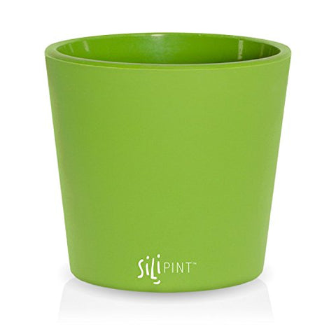 SILIPINT Unbreakable Silicone Drinkware Glass, Go Green, 9-Ounce Rocks Glass