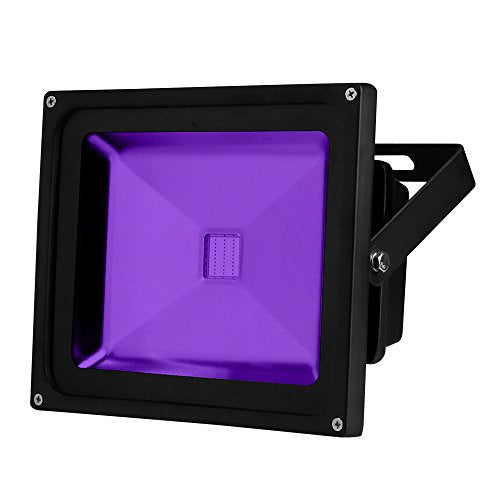YQL Outdoor Blacklight,High Power 30W UV LED Flood Light IP65 Waterproof Black Lights for Parties Neon Glow Party DJ Disco Night Clubs Glow in the Dark Party Supplies,Fishing, Aquarium, Curing, Bar