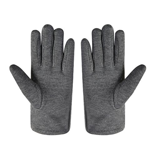 Women's Classic Suede Touchscreen Gloves with Thick Warm Fleece Lining Winter Thermal Fur Cuff Texting Gloves Driving Skiing Cycling Motorcycle Gloves
