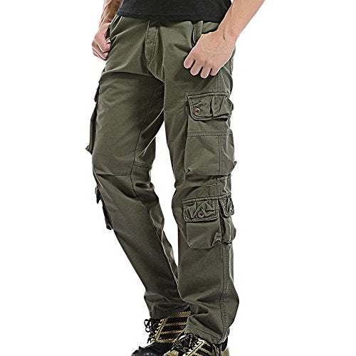 coupon code presenting stylish design WS Thicken Mens Winter Fleece Lined Cargo Pant Windproof Work Pants(Army  Green #3)