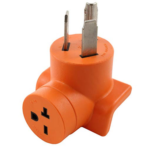 AC WORK [AD1030620] 3-Prong Dryer Oulet to 6-20 20Amp 250Volt HVAC/Power Tools Female Adapter