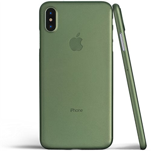 get cheap 9d5d3 14a84 iPhone X Case, Thinnest Cover Premium Fit Ultra Thin Light Slim Minimal  Anti-Scratch Protective - For Apple iPhone X | totallee (Deep Green)