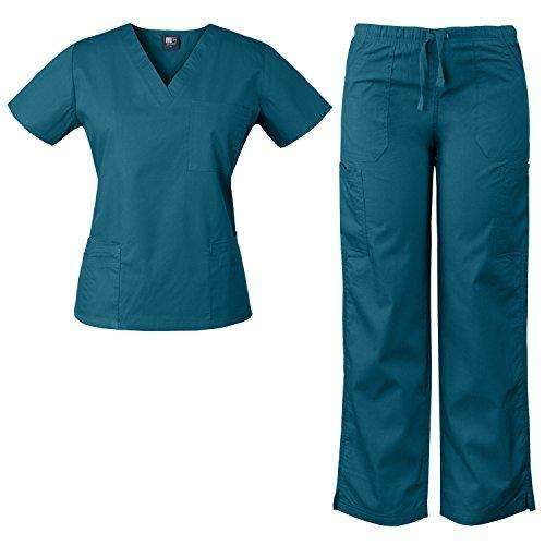 5af719898d4 Medgear 3-Piece Combo, Eversoft Scrubs Set With Printed Scrubs Top FPDT