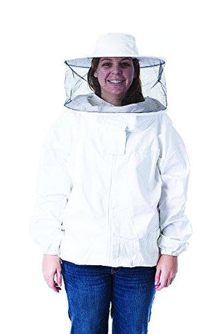 Pigeon Mountain Trading Company Women's Beekeeper Jacket with Round Hood for Beekeeping (Medium)