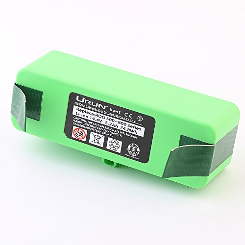 URUN Vacuum Cleaner Battery 14.4V 5200mAh Lithium-Ion Replacement Battery Pack for iRobot Roomba R3 500, 600, 700 & 800 Series Vacuum Cleaners