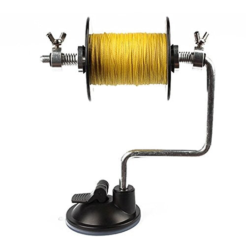 Goture Portable Fishing Line Winder Reel Spool Spooler System Tackle Silver Fishing Rod Tools Hook Accessories < New Package >