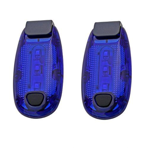 LED Safety Light Blue Flashing Running Lights Bicycle Reflector Strobe  Lights Warning Reflective Gear for Runners, Kids, Dog, Cycling, Walking  (Pack