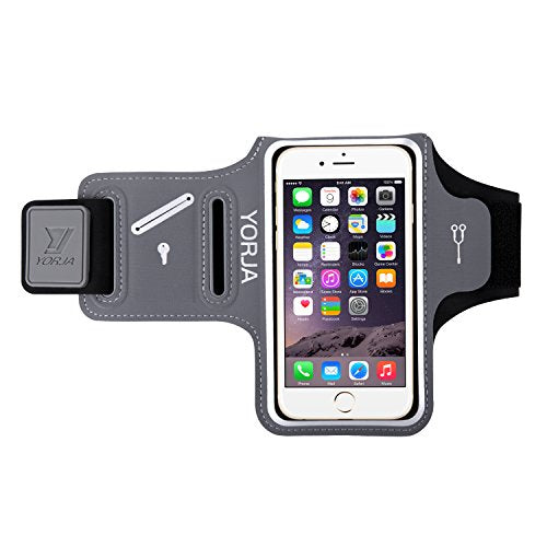 quality design 2372e 82834 Running Armband for Apple/Samsung,YORJA iPhone X/8/7/6/6s & Galaxy S7/S6/S5  Sports Case for Jogging,Workout,Fitness,Gym,Sweatproof Arm Band with Key ...