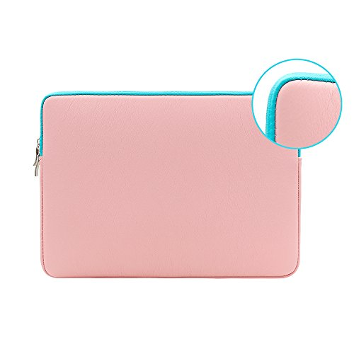 fc0aedd9b028 RAINYEAR Colour PU Leather Laptop Sleeve Case Protective Soft Slim Fit  Padded Bag Cover for 14 Inch Chromebook Notebook Ultrabook,Dell HP Lenovo  ...