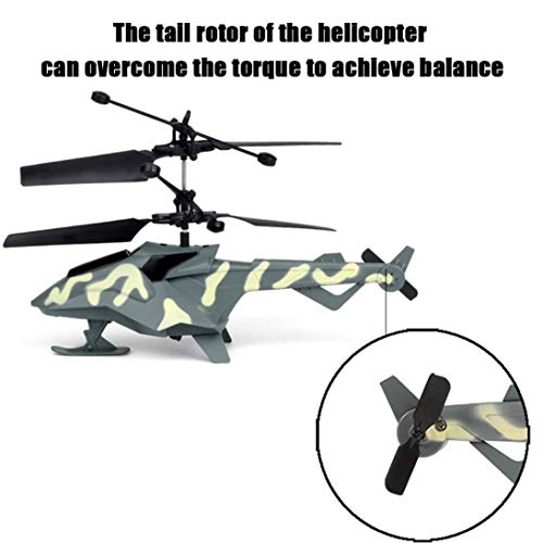 RC Helicopter, Cool Mini Infrared Remote Control Model Plane Toy 2 Channels  Built-in Gyro Drone, Durable Crash Resistance for Kids Indoor Outdoor