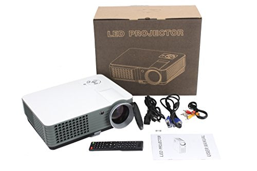 FR S88 1080P Full HD 4000 Lumens LCD LED Home Theater Cinema Projector  Red&blue 3D PC Compatible with Blu-ray XBOX PS4 TV USB HDMI VGA AV LCD LED