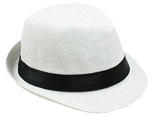 Kids Boys Girls Fedora Hat Trilby Cuban Style Upturn 1-2 8