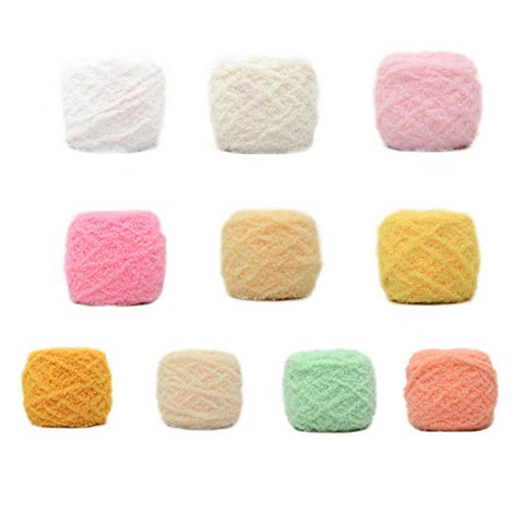 WDDH Soft Woolen Yarn Needle Coral Cashmere Scarves Hat Vest Jackets Towel Weaving Handcrafts Baby children for Crochet or Knitting Single Ball
