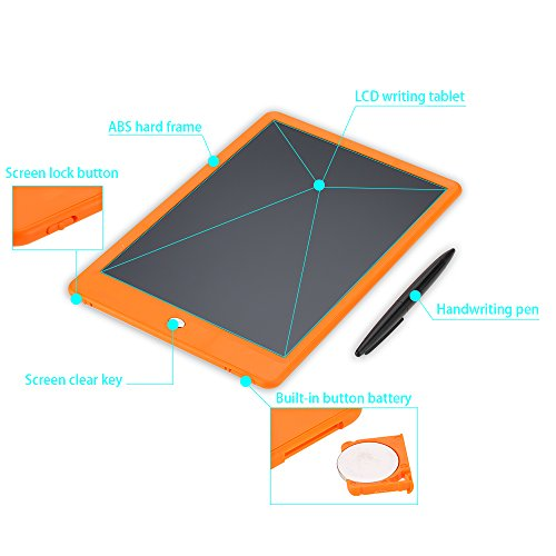 LCD Writing Tablet,Bestobal 10 5 inch Screen Lock Electronic Writing  Board,Portable Handwriting Notepad with Stylus and Stand for Kids and  Adults