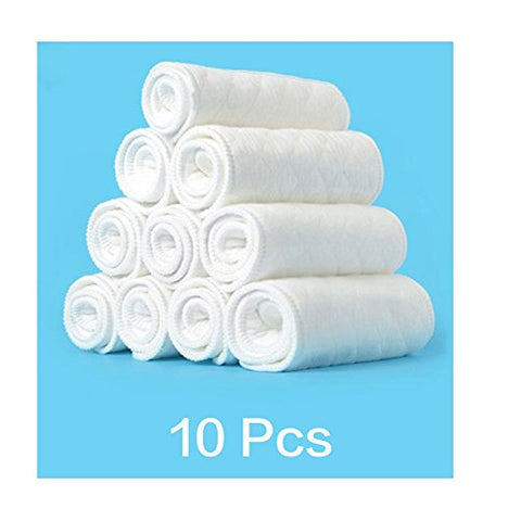 10pcs reusable baby infant cloth diapers liners 100% cotton washable baby care products soft white cotton insert